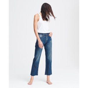 NWT rag & bone Maya High-Rise Ankle Straight Jeans